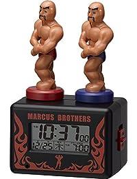 リズム時計 アクション目覚まし時計 マーカスブラザース 8RDA62RH02