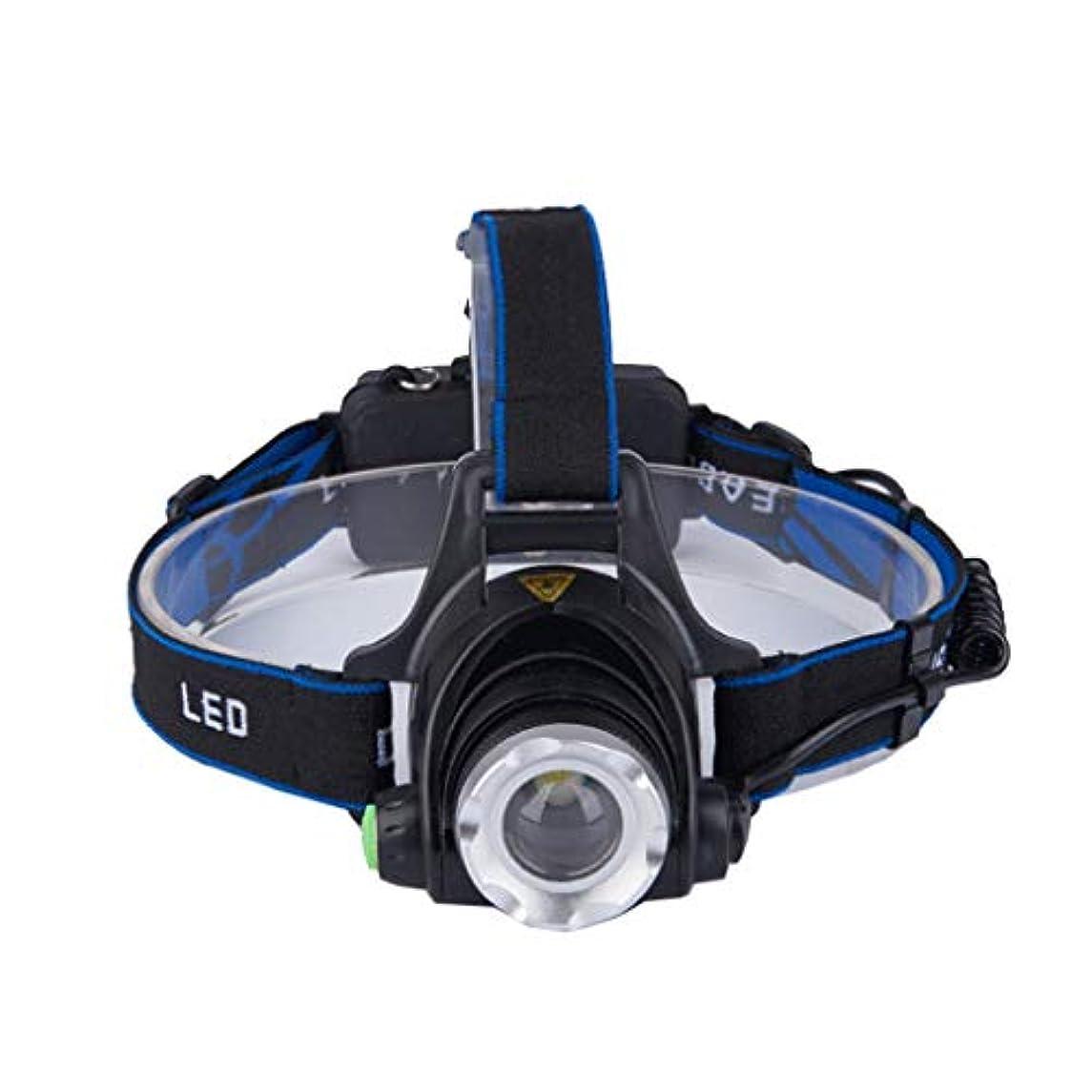 頑丈ハック告発者Nosterappou 強い光充電ヘッドマウントヘッドライト、光学カエルの目のレンズ、明確で純粋な光、集光集光、ランプヘッド取り外し可能なデザイン、超明るい長距離LEDライト屋外スポーツ乗馬夜釣り鉱夫のランプ