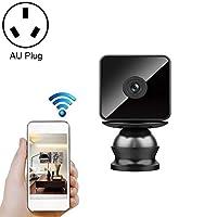 ハイビジョンクラウド無線IPカメラは、人間の家庭安全監視ネットワークWiFiカメラを自動追跡する。 呂H9小型ワイヤレスWiFi HD IPカメラ、サポート非光ナイトビジョン&携帯電話のリモート監視&モーション検知/アラーム&64ギガバイトカメラのメモリカード、米国のプラグイン (Color : Color3)