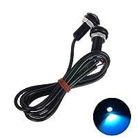CA-TING デイライト イーグルアイ LED 防水 超高輝度 18mm 12V イーグルアイ昼間ランニング DRL テールライトランプバックアップ ランプ ブラックシェル 10個セット (ライトブルー)
