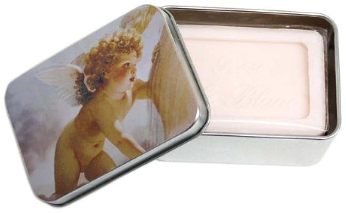 アボート追い越す再生的ルブランソープ メタルボックス(エンジェルA?ローズの香り)石鹸