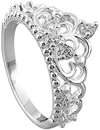 GODTOON新品 ペアリング レディース アクセサリー ジュエリー クラウン リング 愛の証 指輪 キラキラ 結婚 婚約 誕生日 クリスマス バレンタインデー プレゼント サプライズ
