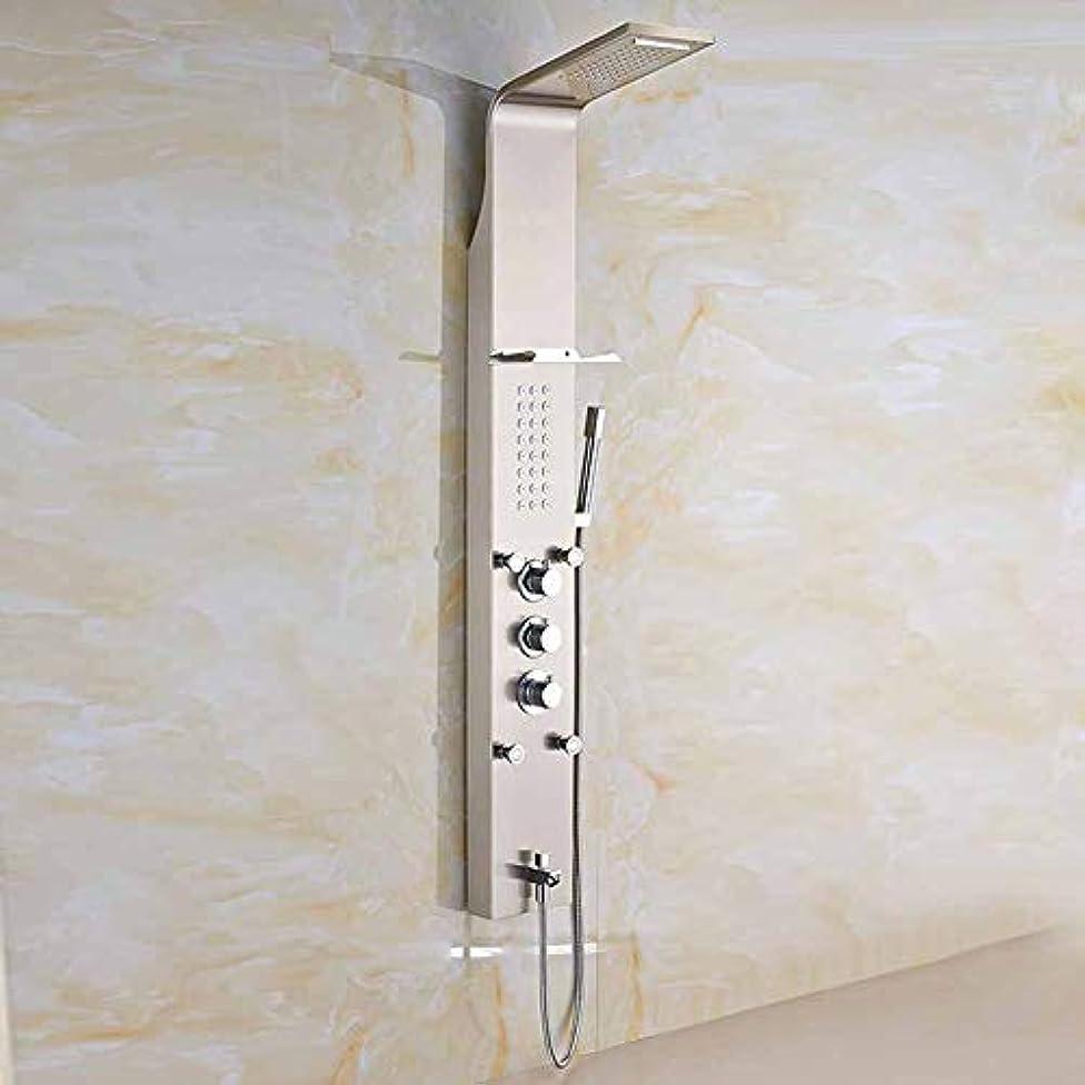 僕のケーブルカー弾力性のあるサーモスタットシャワーシステム、シャワーパネルセットレインフォールシャワーハンドシャワー&ボディジェットバブル、雨、温度調節、自動水、マッサージ、ポータブル高級バスルームの装飾