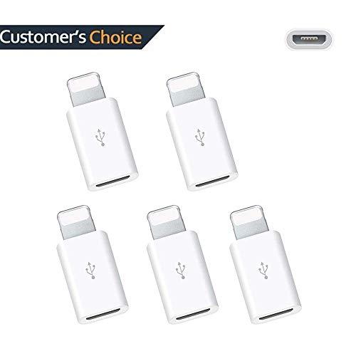 Lightning MicroUSB 変換 急速充電とデータ伝送 usb lightning 変換 iPhone対応 IOS11適応 5本セット