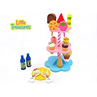 Little Treasures Sweet Treats 18 piece Desserts Ice Cream pretend and play funny playset toy toy for kids [並行輸入品]
