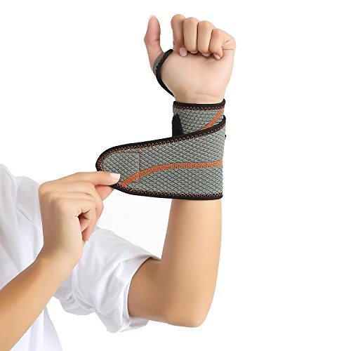 手首サポーター リストラップ スポーツ用 手首固定 手首保護に怪我防止 男女左右兼用