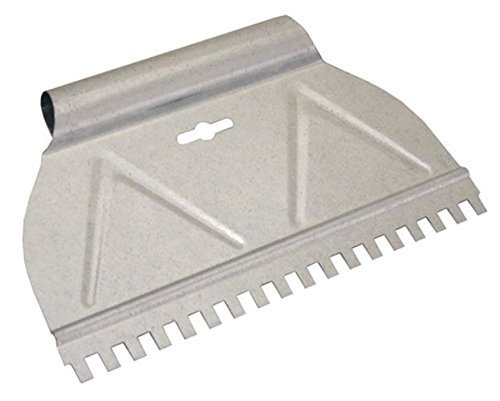 Kraft Tool HC305 Hi-Craft Square Notch Stainless Steel Adhesive Spreader, 1/4 x 3/8 x 1/4-Inch [並行輸入品]