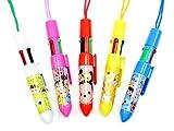 (ディズニー)Disney ディズニーツムツム TSUM TSUM ひも付き 4色 ボールペン 25本 セット 景品用 プレゼント用 文具 文房具 子供会