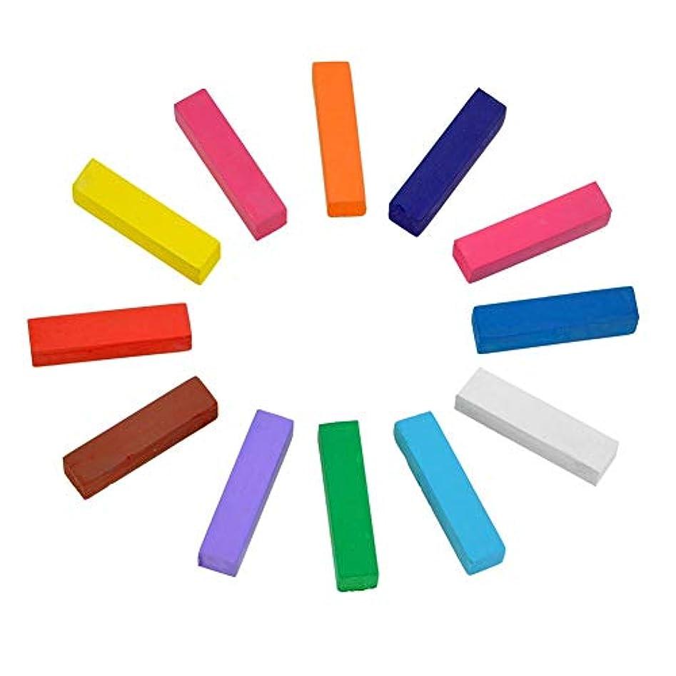 抽出ピクニックをする有害な全12色 ヘアチョーク ヘアカラーチョーク Hair color chalk お湯で落ちる簡易髪染 一日だけの髪染め