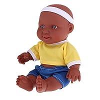 Perfeclan 抱き人形 赤ちゃん人形 お人形セット 人形 ドール コスチューム人形 高さ約26cm イエロー