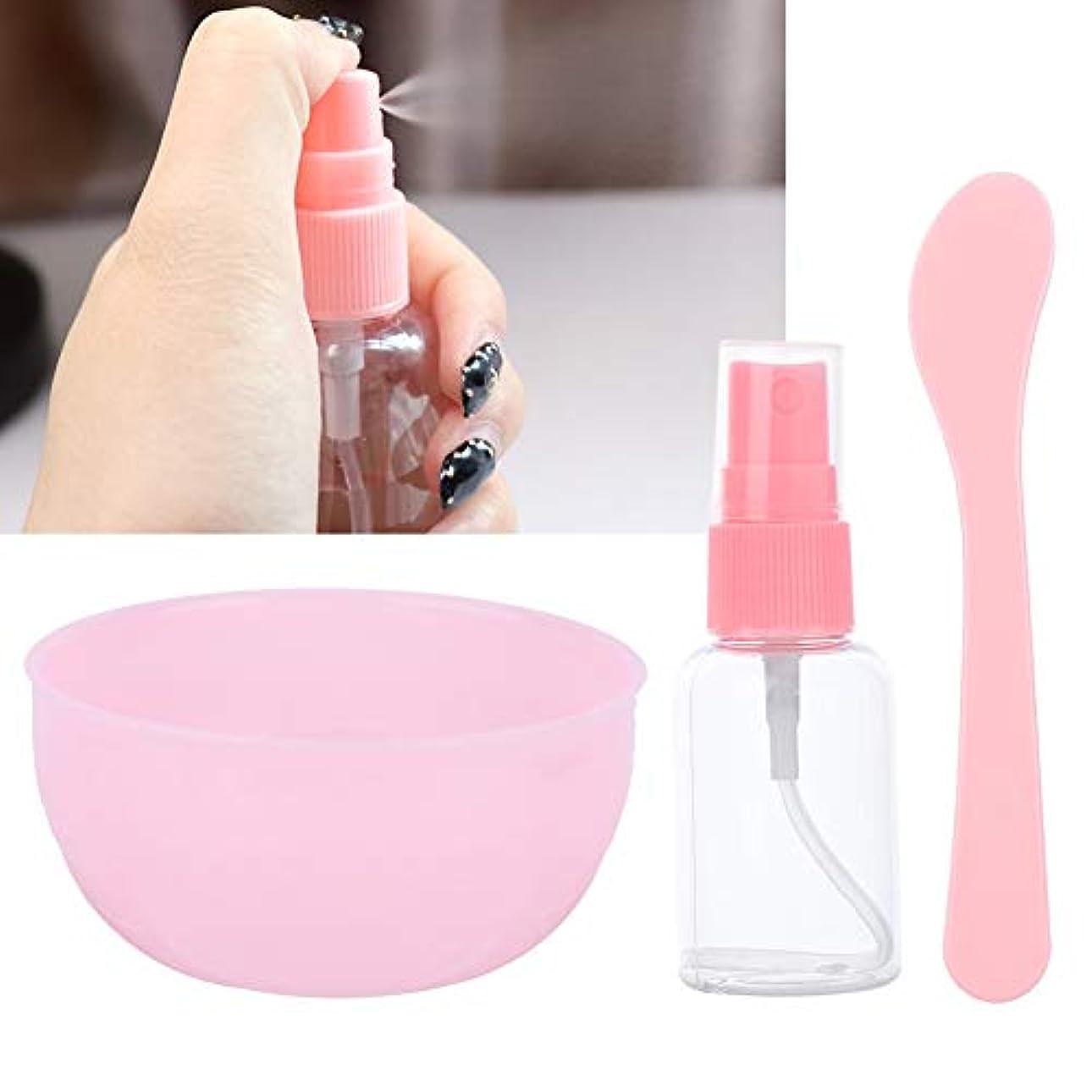 生物学表向き詳細なフェイスマスクミキシングボウルセットDIY美容マスクボウルセット化粧品ミキシングスティックスプレーボトル