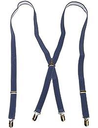 (モクプニ) mokupuni サスペンダー X型 日本製 大人用 20㎜巾 男女兼用