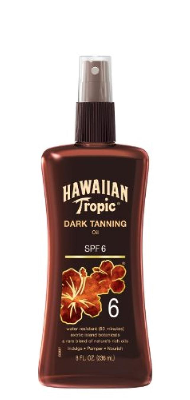 後悔故意の最初にHawaiian Tropic Dark Tanning Oil SPF#6 Pump (並行輸入品)