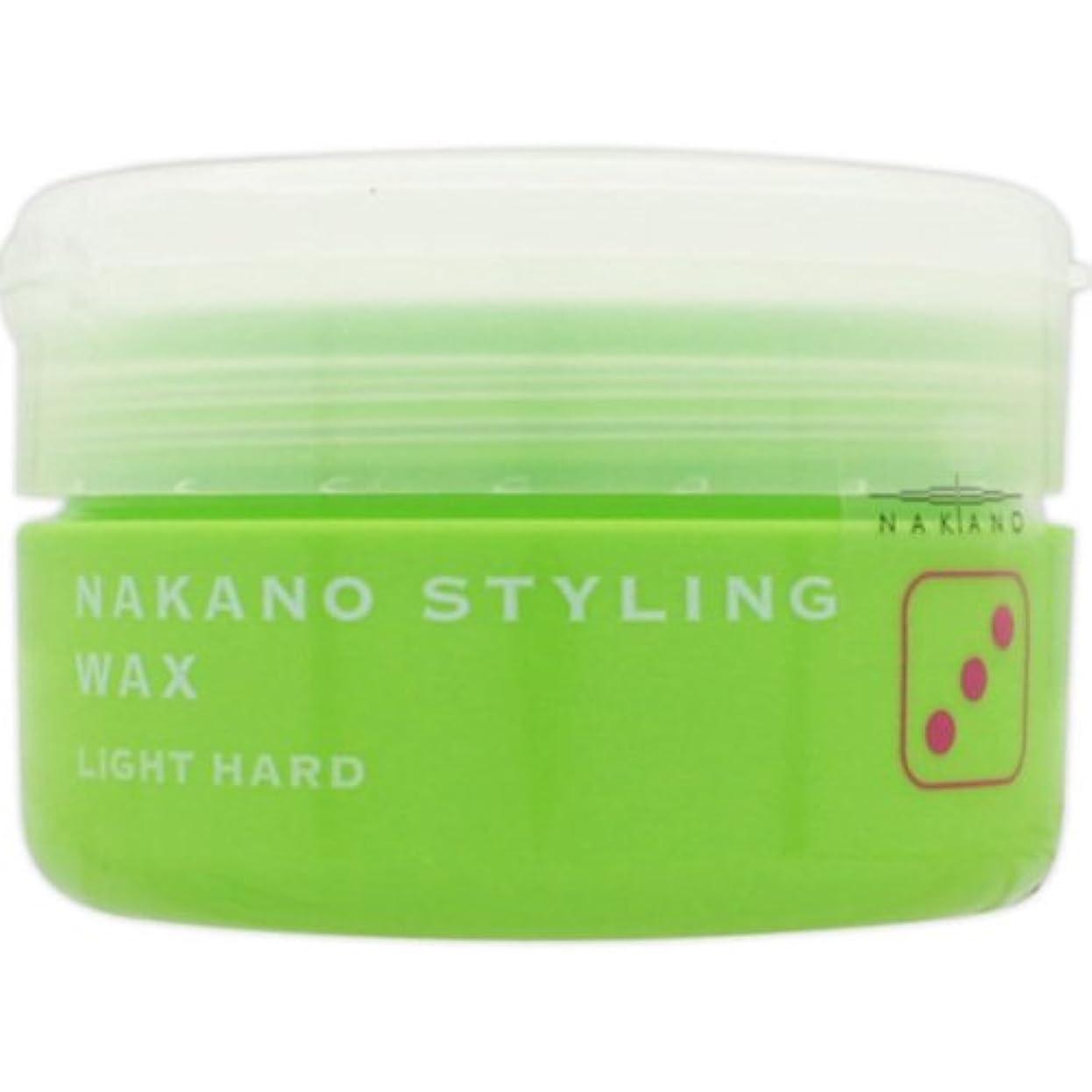 規制する契約添加ナカノ スタイリングワックス 3 ライトハード 90g 中野製薬 NAKANO