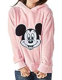 [ベルメゾン] ディズニーポンポン付き フリースパーカ ミッキーマウス ピンク