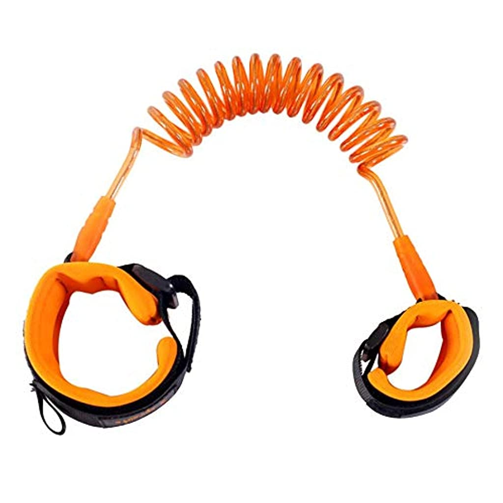 奇跡的なサミット小道赤ちゃんの安全ウォーキングハーネスアンチロストストラップリストリーシュキッズトラクションロープ幼児アンチロストベルト子供安全アクセサリー-オレンジ