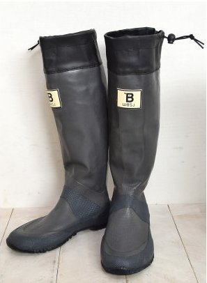 (BW-01)日本野鳥の会 バードウォッチング長靴 レインブーツ/ラバーブーツ グレー M