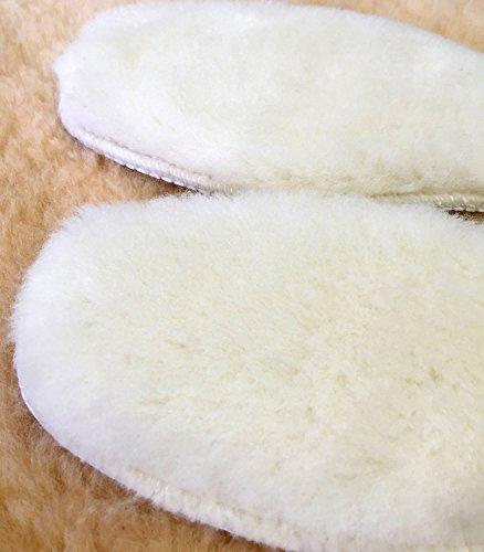 あったか 極厚インソール 天然羊毛 女性用 男性用 中敷き 【 サイズが選べます 】 ふわふわ もこもこ 防寒 保温 冷え性解消 ブーツに最適! emu UGG 等にもお勧め (38)