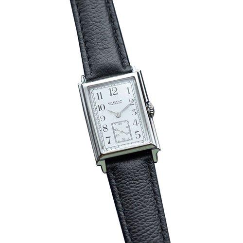 (サーカ)CIRCA レザーベルト×シルバーケース腕時計 one シルバー×ブラック ct115t-one-silver-black
