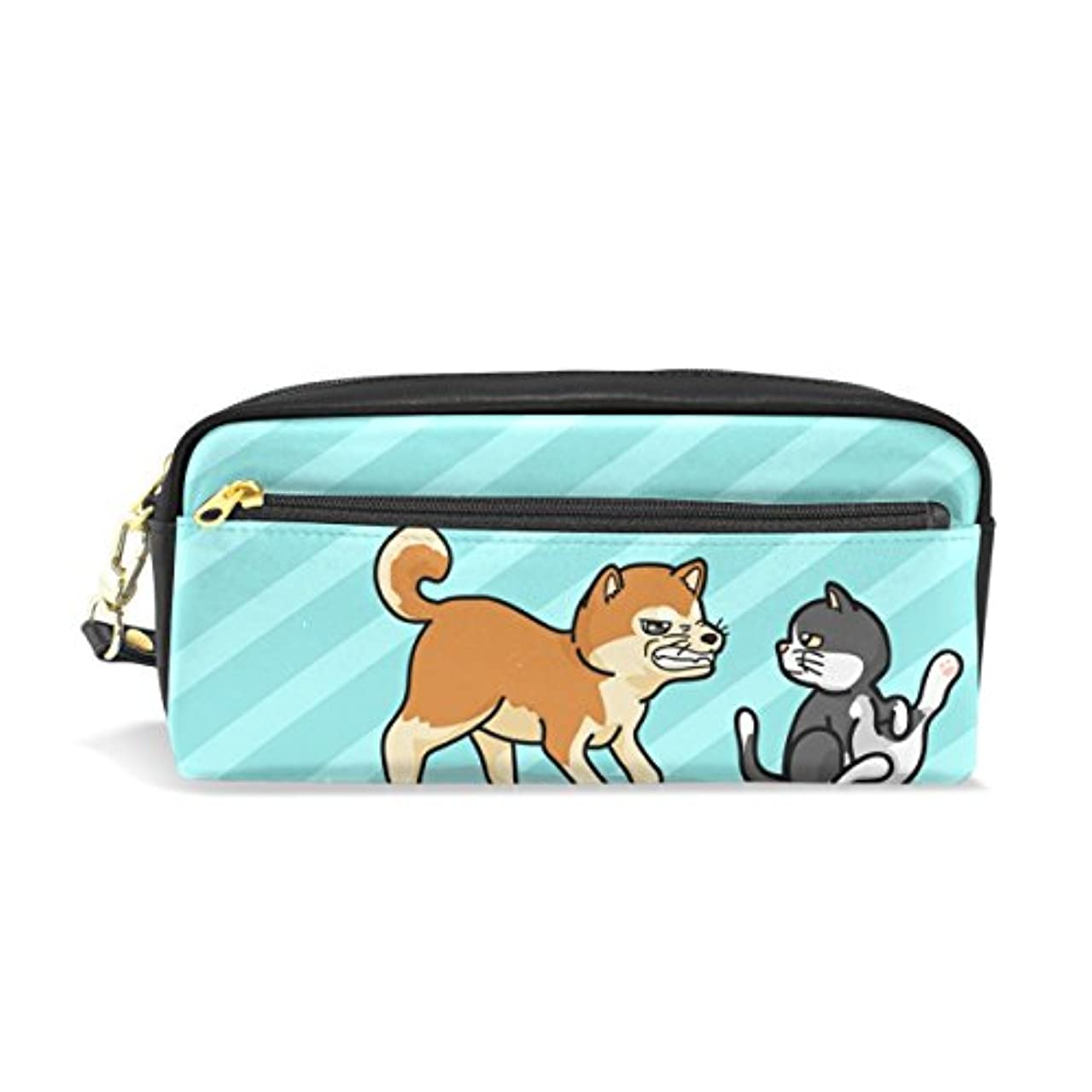 知覚するテープハーネスAOMOKI ペンケース 化粧ポーチ 小物入り 多機能バッグ 男女兼用 柴犬 猫