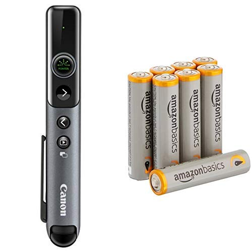 Canon グリーンレーザーポインター PR80-GC+Amazonベーシック 乾電池 単4形 アルカリ 8個セット