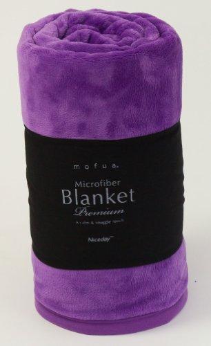 mofua(モフア) プレミアムマイクロファイバー毛布 シングル パープル 40000119