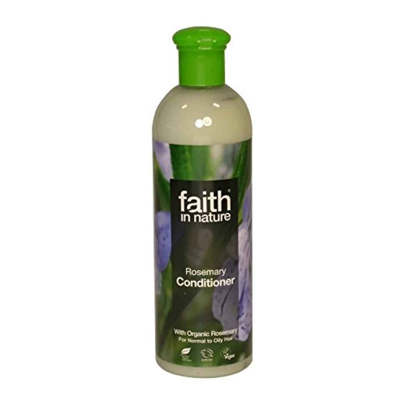 レース引用猫背Faith in Nature Rosemary Conditioner 400ml (Pack of 6) - 自然ローズマリーコンディショナー400ミリリットルの信仰 (x6) [並行輸入品]