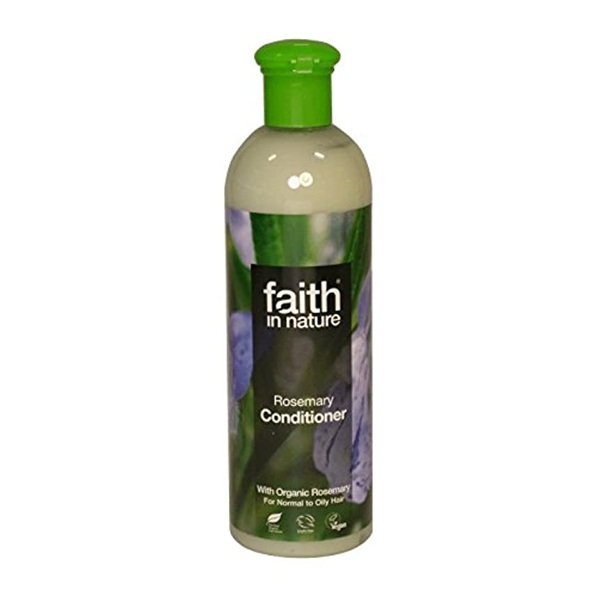 次アメリカ注釈Faith in Nature Rosemary Conditioner 400ml (Pack of 6) - 自然ローズマリーコンディショナー400ミリリットルの信仰 (x6) [並行輸入品]