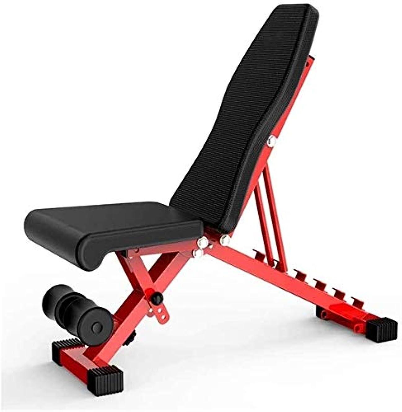 エンジン主婦小切手Suge フルボディワークアウトのための調節可能なウェイトベンチ折り畳み式重量挙げシットアップベンチABホームトレーニングジムベンチ