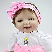 Sannysis ノベルティトイ 22インチ ビニールシリコーン 生きているようなおもちゃ リボーンドール 赤ちゃん人形