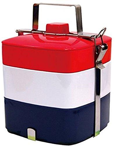 Primal Designs 弁当箱 3段 ピクニックスクエアボックス パッケージ付 国旗 フレンチ 3200ml