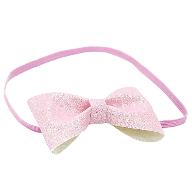 【ノーブランド品】 ヘッドバンド 幼児 ヘアーリボンバンド かわいい 女の子 ファッション アクセサリー 贈り物 全8色 - ピンク