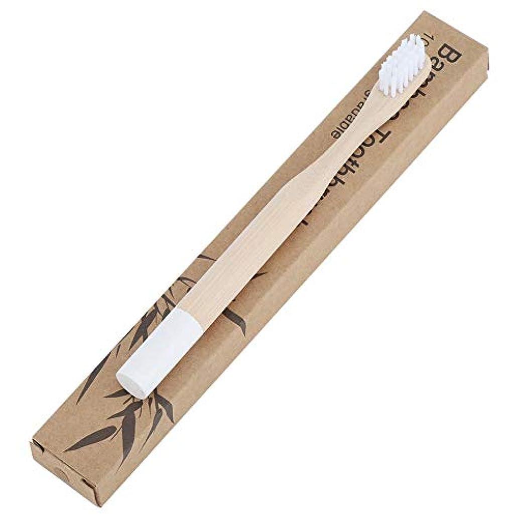 排泄する簡単にジムデンタルプロ 贅沢ケア 子ども用ハブラシ 歯ブラシ 柔らかい歯ブラシ 歯周ケアハブラシ 超極細毛 コンパクトかため 竹ハンドル ブラシ 知覚過敏予防 子供用 色はお選びいただけます (ホワイト)