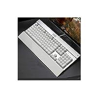 ZYDP Gaming Keyboard White 104 Key LED Backlit Slim Keyboard Wired USB Keyboards Color : White