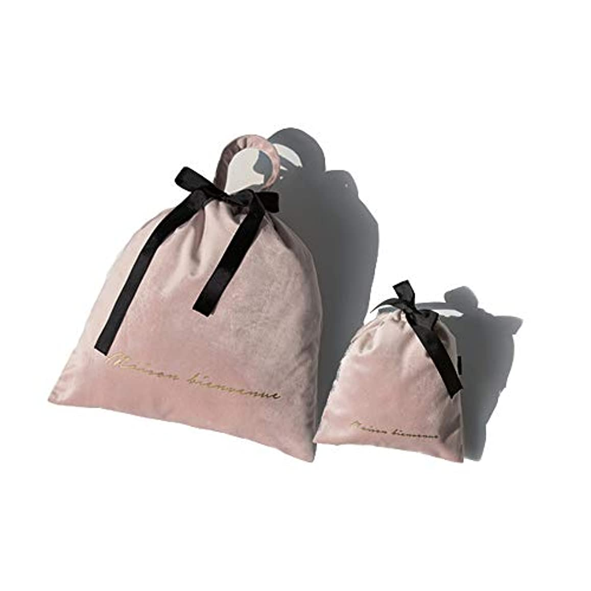 誘導匿名僕のSIRIN メイクポーチ ベルベット 巾着袋 化粧ポーチ コスメポーチ 旅行出張用収納バッグ 巾着ポーチ 小物入れ メイク用品 キャリーケース 大容量 携帯用 4色選べる 軽量 おしゃれ プレゼント ギフト (ピンク)