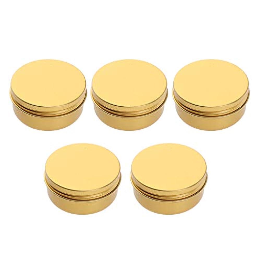 アプローチラインナップ配管5ピース/個50/60/100 / 150ml空の化粧品ポットリップバーム容器ジャーアルミ缶 - 50ミリリットル