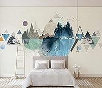Minyose 壁紙 カスタム壁紙ヨット熱気球灯台青空白い雲子供部屋の背景3D Wallpaper