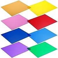 NEEWER 照明用カラーフィルター(八枚セット)30x30cm 赤/黄/オレンジ/緑/紫/ピンク/水色/紺色【並行輸入品】