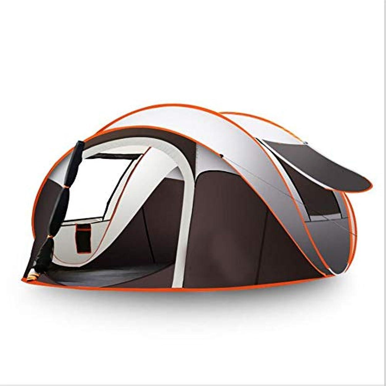水を飲む発音するベーシック屋外の自動テント、防水ポータブルテント、ハイキング、キャンプ、ビーチ、釣りに適したキャビンバックパックポップアップテントを軽くハイキングするキャンプのビーチ。