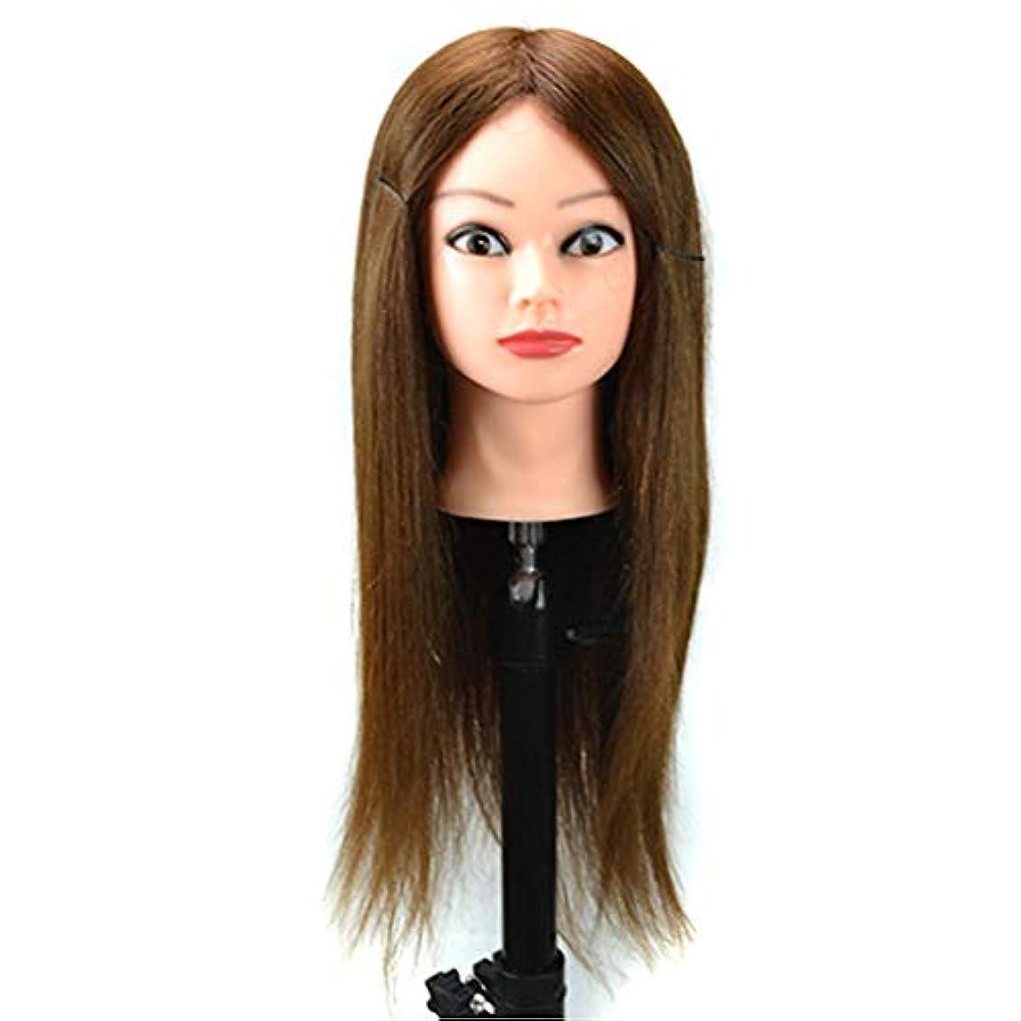メーカー原稿批評完全な毛は小さいブラケットが付いている熱いロールマネキンの頭部のヘアーサロンのトリミングの頭部の花嫁の形の毛の訓練の頭部である場合もあります,Brown