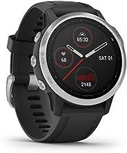 Garmin Fenix 6S, Premium Multisport GPS Smartwatch, Silver With Black Band
