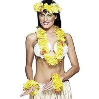 首飾り 冠 ブレスレット 黄色 ハワイ風 大人女性用 Hawaiian