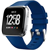 inverleeソフトシリコン交換スポーツクラシックバンドストラップfor Fitbit Versa Smartwatch One Size