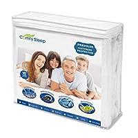 快適な睡眠用プレミアムマットレスプロテクター 防水 ベッドバグカバー 低刺激性寝具カバー フル