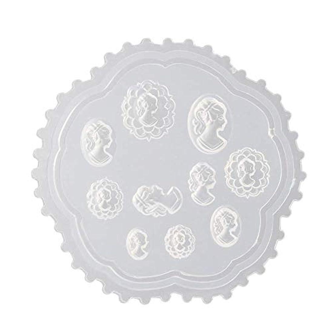 港別の小石gundoop 3Dシリコンモールド ネイル 葉 花 抜き型 3Dネイル用 レジンモールド UVレジン ネイルパーツ ジェル ネイル セット アクセサリー パーツ 作成 (2)