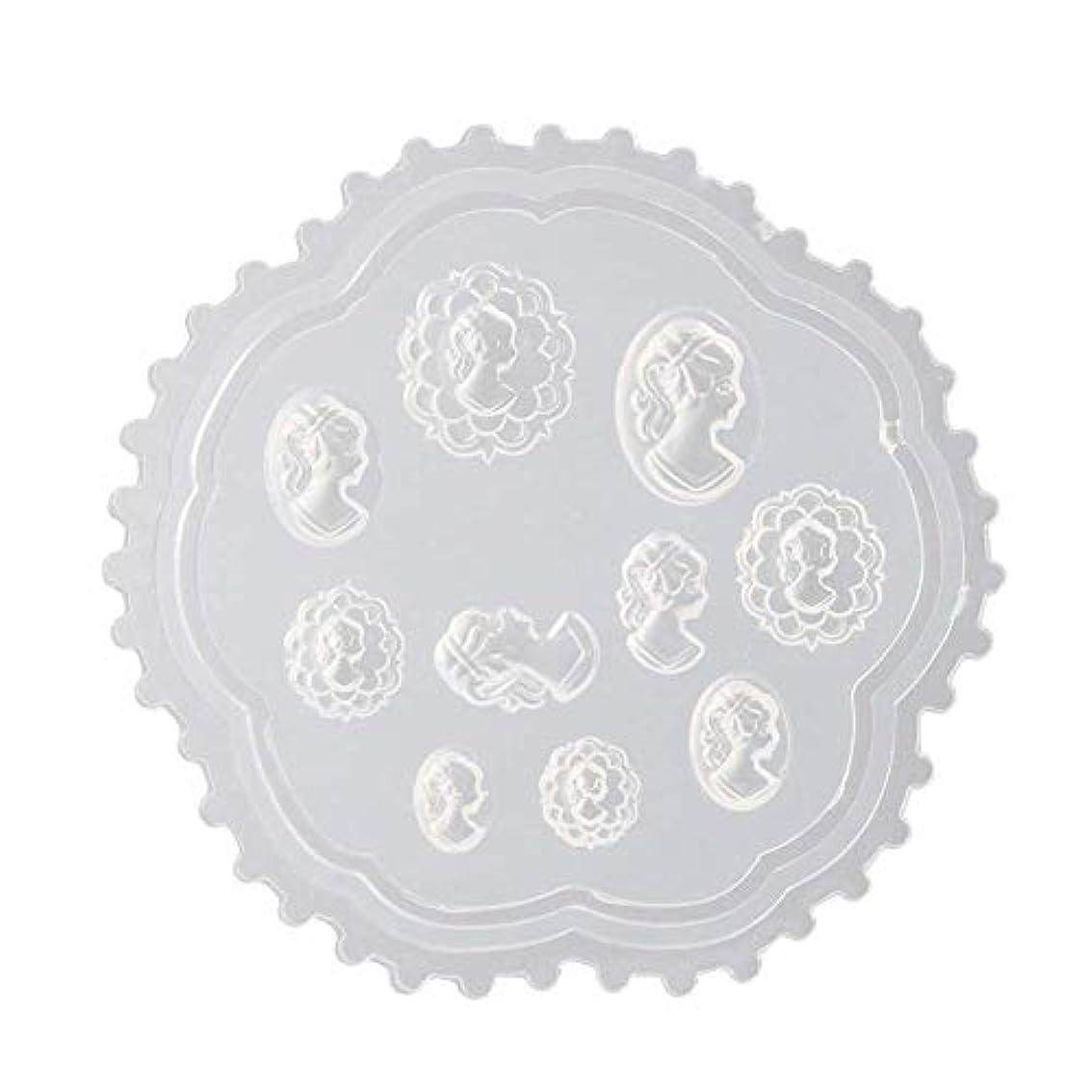 ミニ試用震えFlymylion 3Dシリコンモールド ネイル 葉 花 抜き型 3Dネイル用 レジンモールド UVレジン ネイルパーツ ジェル ネイル セット アクセサリー パーツ 作成 (2)