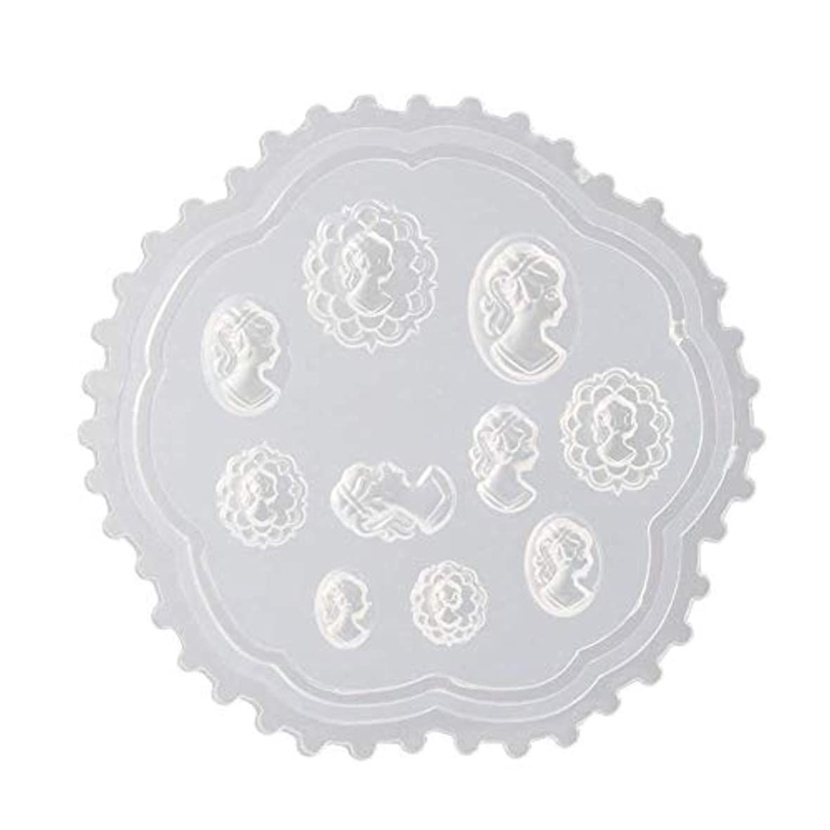 アナリスト衛星慣習Aomgsd 3Dシリコンモールド ネイル 3Dネイル用 レジンモールド UVレジン ネイルパーツ ジェル ネイル セット アクセサリー パーツ 作成 葉 花 抜き型 (2)