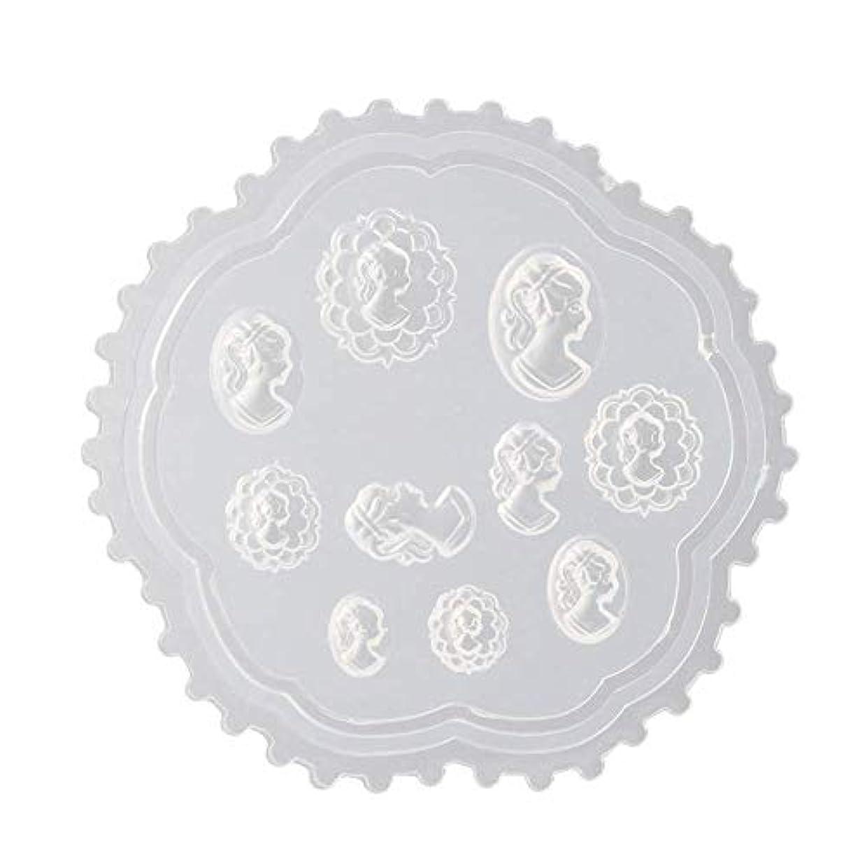香水一月大臣Flymylion 3Dシリコンモールド ネイル 葉 花 抜き型 3Dネイル用 レジンモールド UVレジン ネイルパーツ ジェル ネイル セット アクセサリー パーツ 作成 (2)