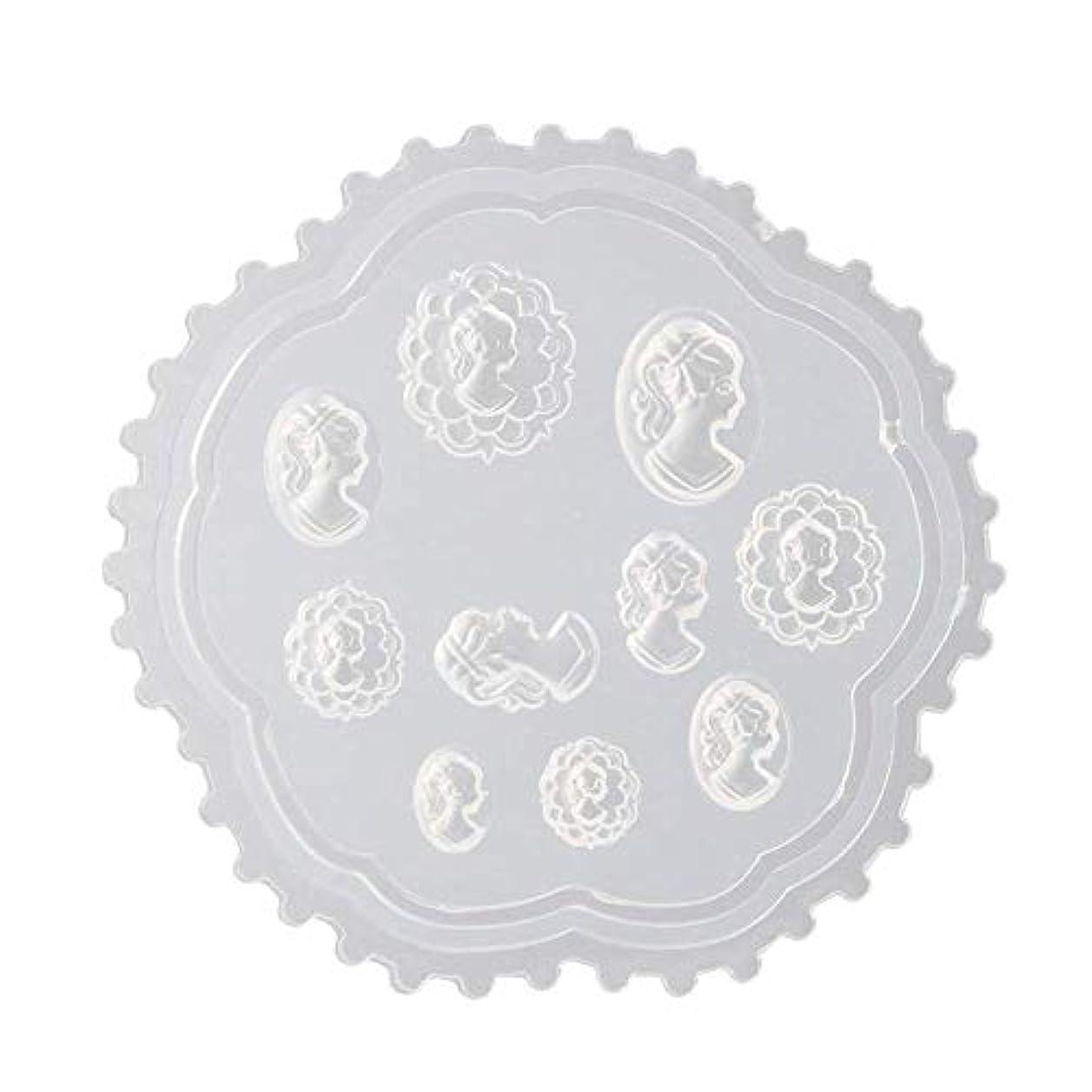 チョコレート追い出す殺人coraly 3Dシリコンモールド ネイル 葉 花 抜き型 3Dネイル用 レジンモールド UVレジン ネイルパーツ ジェル ネイル セット アクセサリー パーツ 作成 (2)