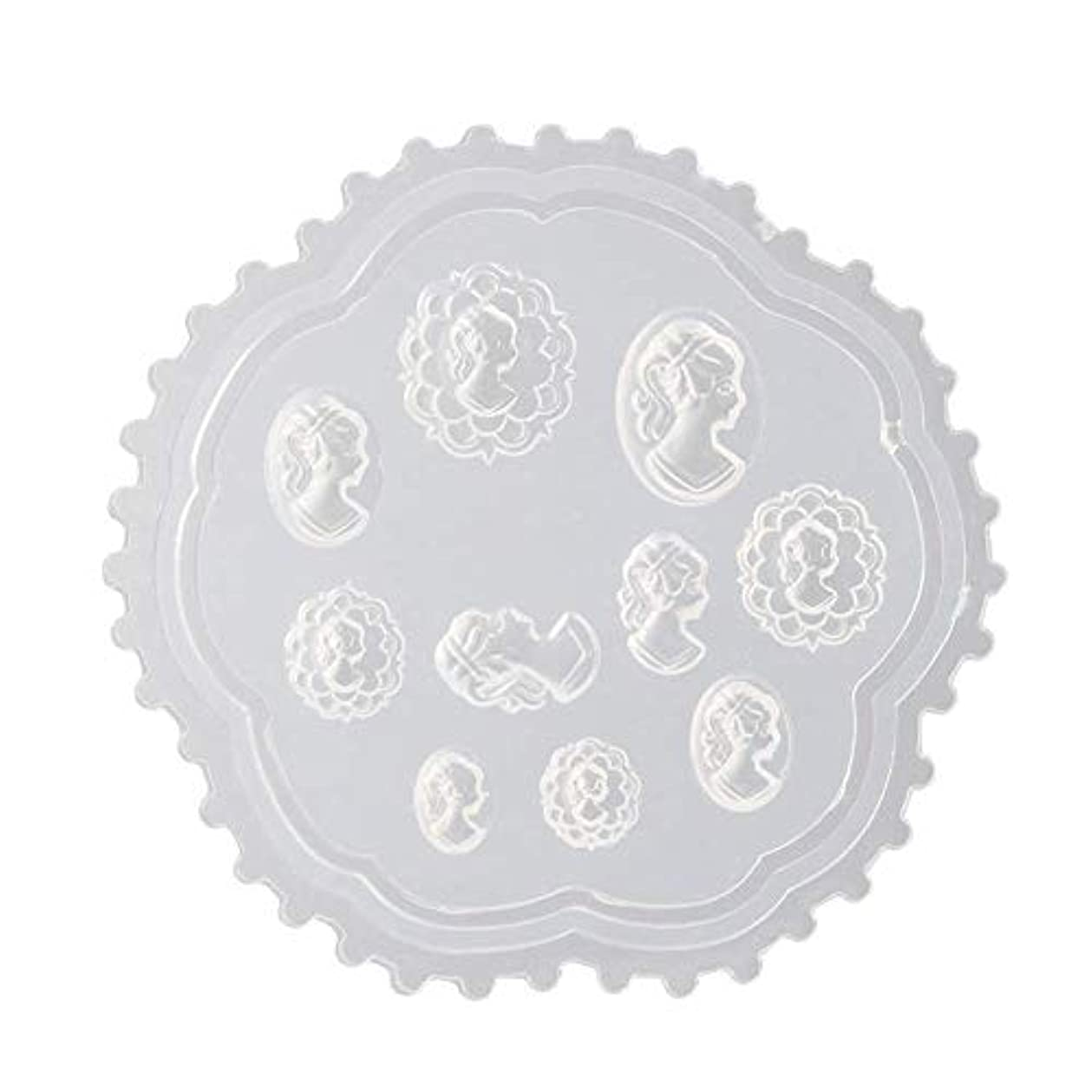 民間人足枷成長Flymylion 3Dシリコンモールド ネイル 葉 花 抜き型 3Dネイル用 レジンモールド UVレジン ネイルパーツ ジェル ネイル セット アクセサリー パーツ 作成 (2)